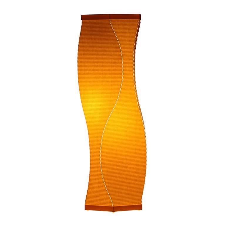 Roland Simmons Lumalight Swerve Canary Yellow Table Lamp