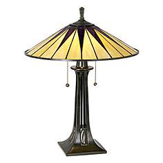 Quoizel table lamps lamps plus quoizel gotham antique bronze tiffany style table lamp aloadofball Image collections