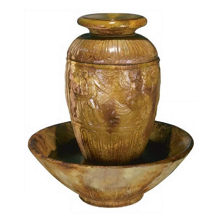 """Roman Jar 42"""" High Garden Patio Bubbler Fountain"""