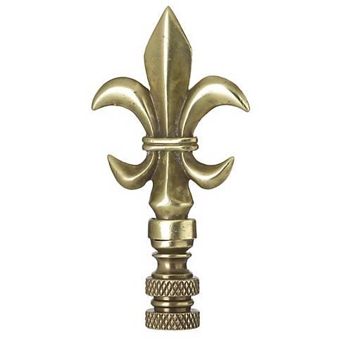 Brass Fleur-de-Lis Lamp Shade Finial