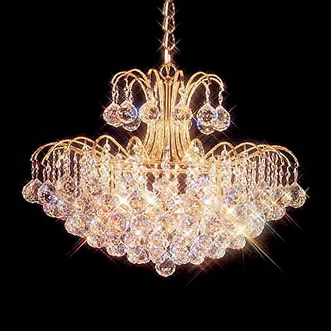James R. Moder Mardella Sixteen Light Crystal Chandelier