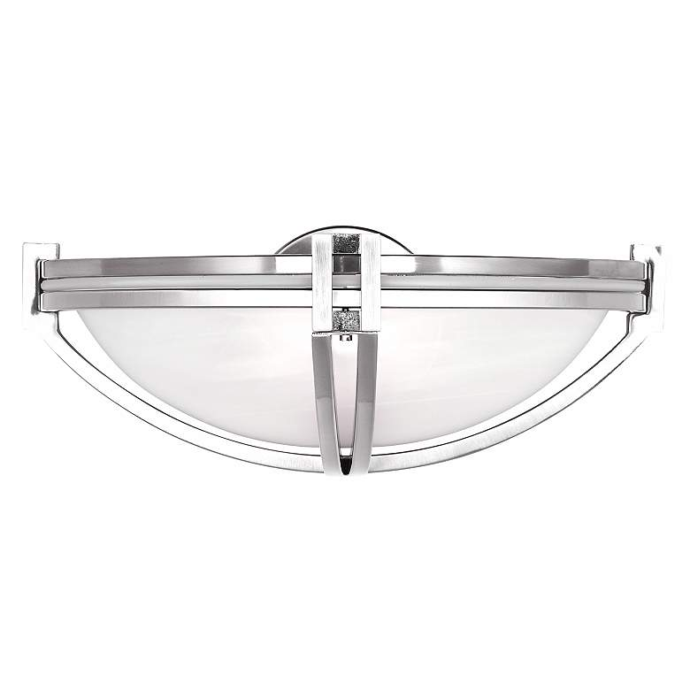 "Possini Euro Deco Nickel Collection 13 3/4"" Wide Wall Sconce"