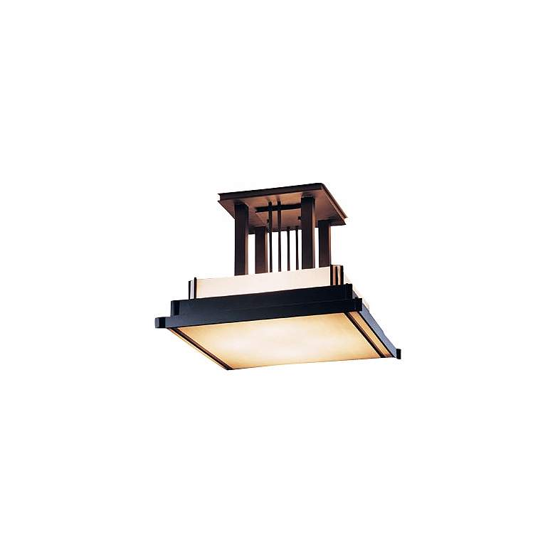 "Hubbardton Forge Steppe Black Finish 17 1/2"" Ceiling Light"