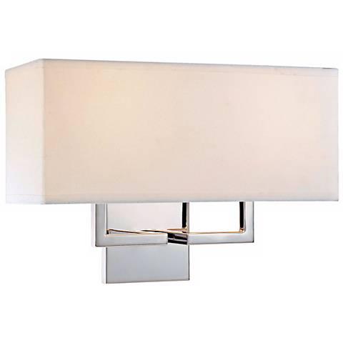 "George Kovacs Rectangle Chrome 11"" High 2- Light Wall Sconce"