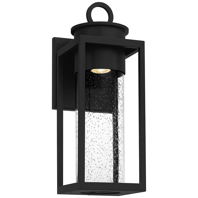 "Quoizel Donegal 18 3/4"" High Matte Black Outdoor Wall Lantern"