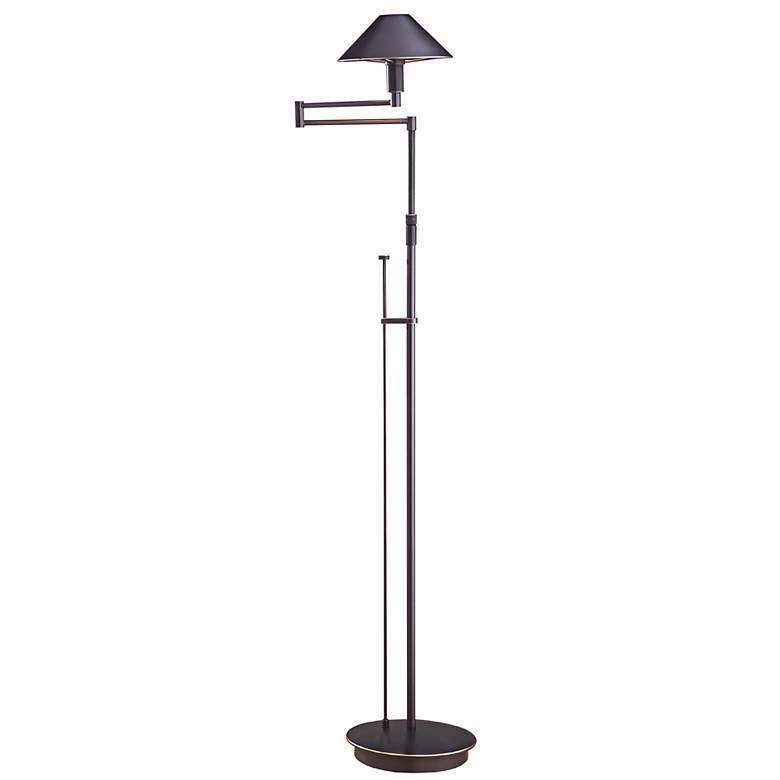 Holtkoetter Bronze Metal Shade Swing Arm Floor Lamp