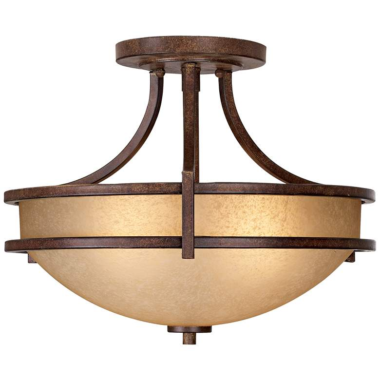 """Oak Valley Collection 18"""" Wide Scavo Glass Ceiling Light"""
