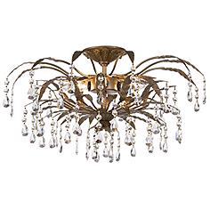 "Kathy Ireland 21"" Wide French Garden Ceiling Light"