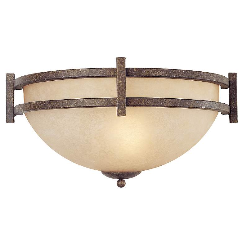 """Oak Valley Collection 14 1/2"""" Wide Pocket Wall Sconce"""