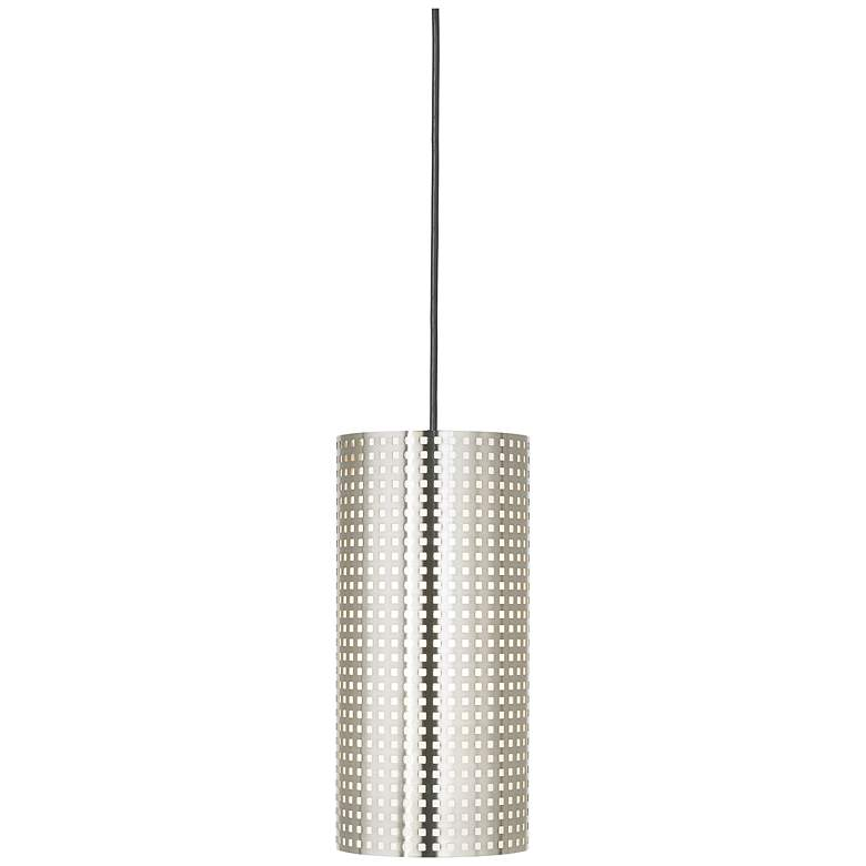 """George Kovacs Grid Collection 6""""W Perforated Mini Pendant"""