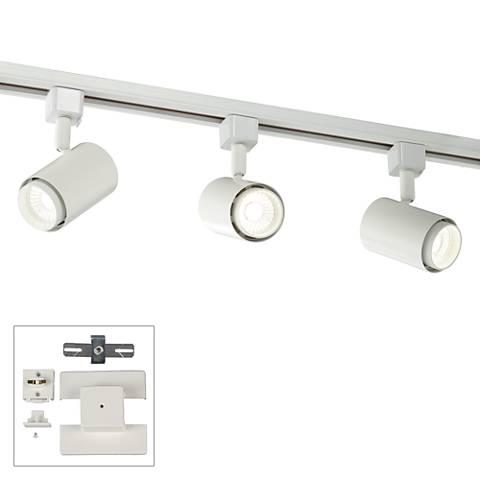 3-Light White Cylinder Head LED Floating Canopy Track Kit