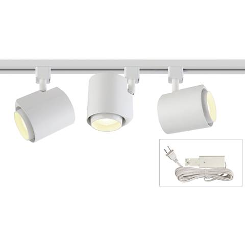 White 22W LED 3-Light Plug-In 4-Foot Liner Track Kit