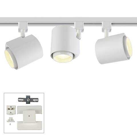 3-Light White 22 Watt LED Floating Canopy Track Kit
