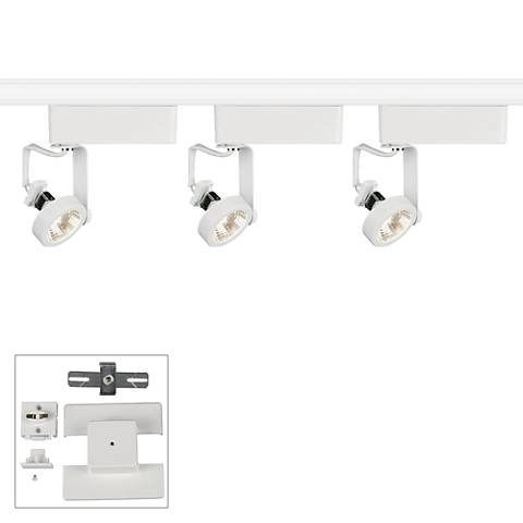 Juno 3-Light White Gimbal Bullet Floating Canopy Track Kit