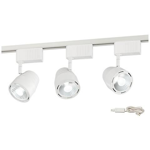 Lael White Bullet 3-Light LED Plug-In Linear Track Kit