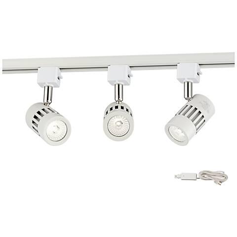 leland led white 3 light plug in linear track kit 09319 7n502