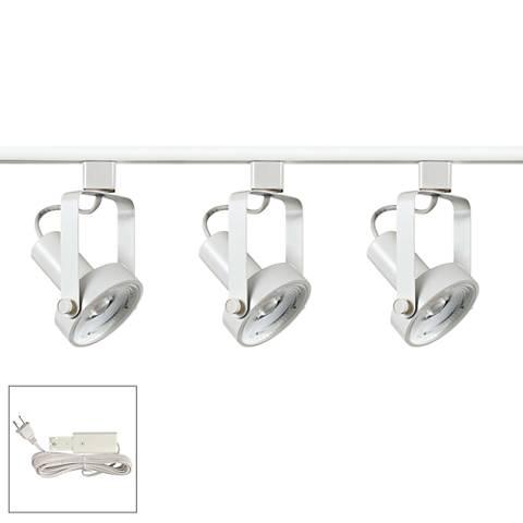 Riley 17W 3-Light White LED Plug-In Linear Track Kit