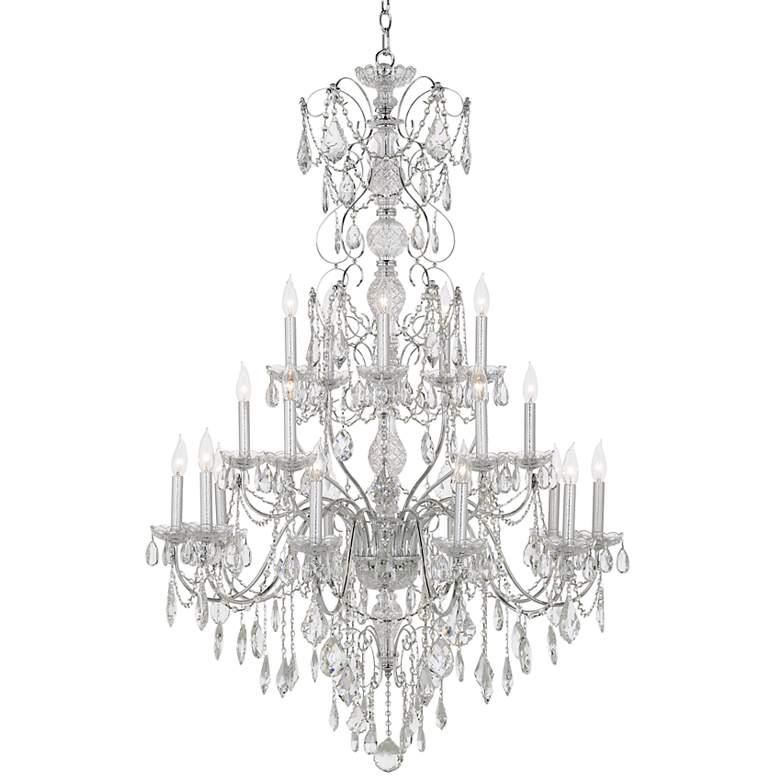 "Schonbek Century Collection 37"" Wide Crystal Chandelier"