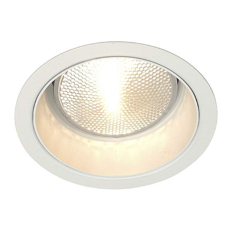 "Lightolier 5"" Line Voltage White Alzak Recessed Light Trim"