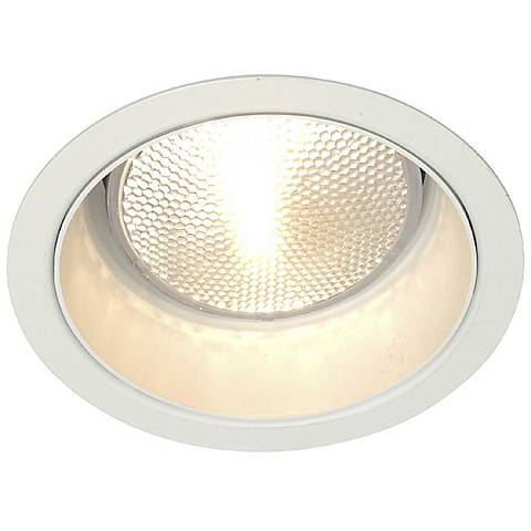lightolier 5 line voltage white alzak recessed light trim 09605 lamps plus. Black Bedroom Furniture Sets. Home Design Ideas