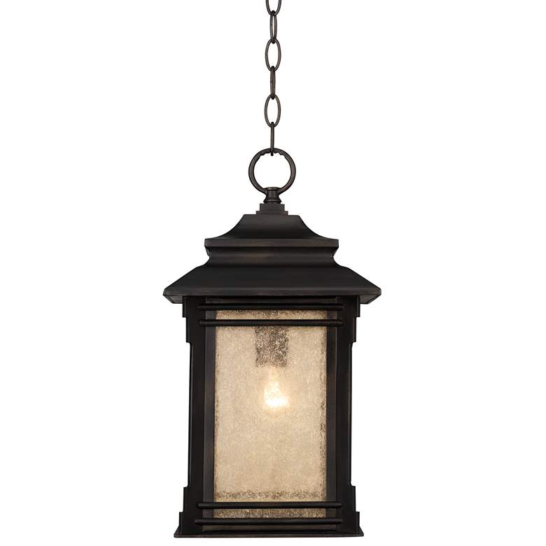 """Hickory Point 19 1/4"""" High Bronze Outdoor Hanging Light"""