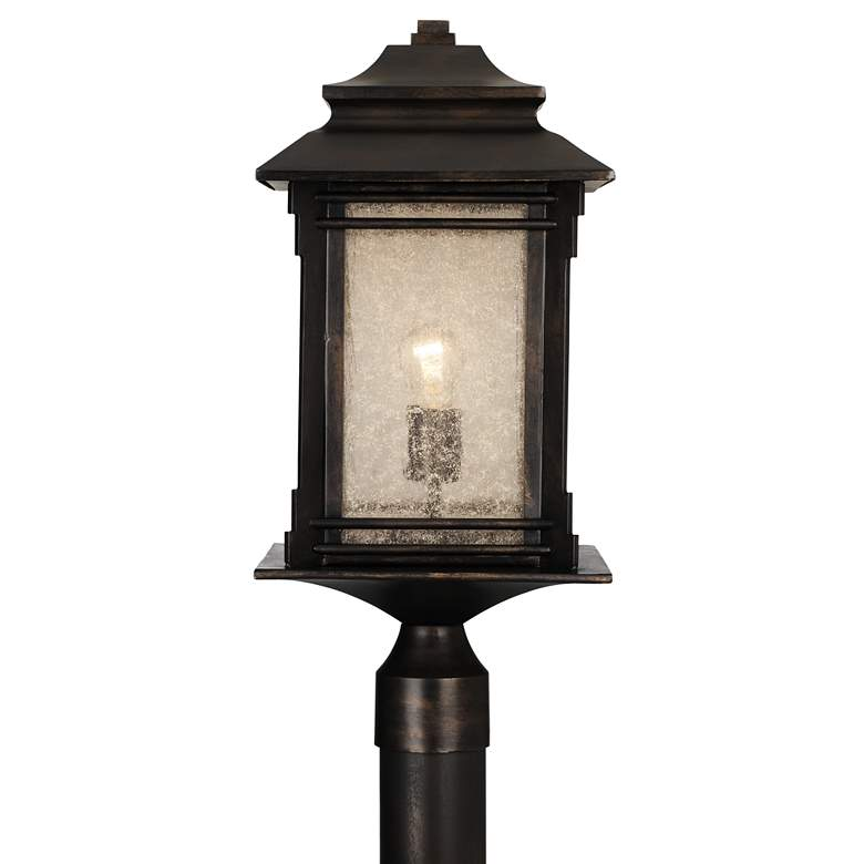 "Hickory Point 21 1/2"" High Bronze Outdoor Post Light"