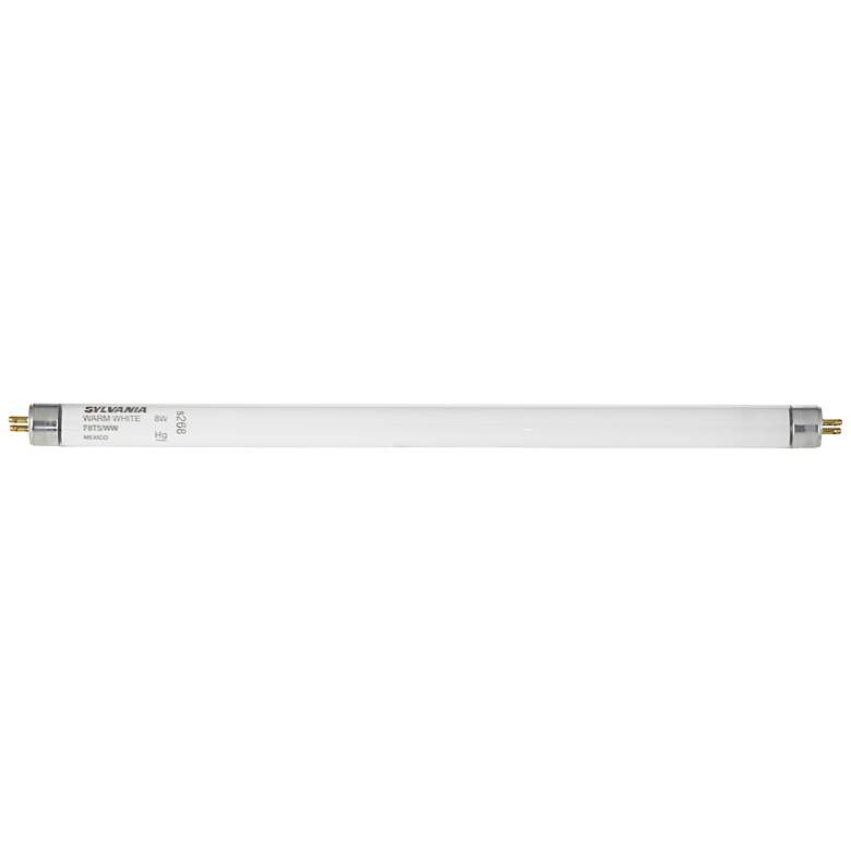 "F8T5 Fluorescent 12"" Warm White Light Bulb by GE"