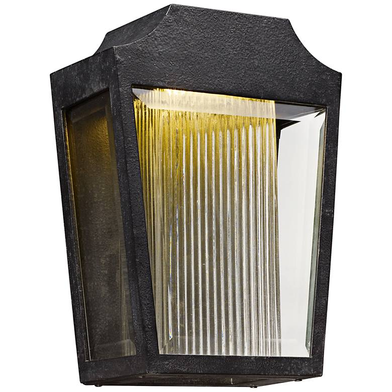 "Maxim Villa 12 1/4"" High Anthracite LED Outdoor Wall Light"