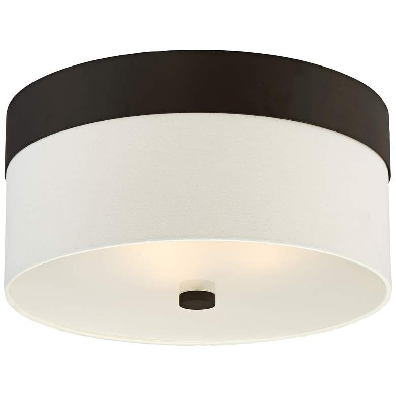 "Crystorama Grayson 16"" Wide Dark Bronze Ceiling Light"