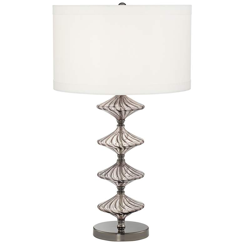 Possini Euro Nanci Smoked Glass Console Table Lamp