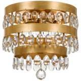 "Crystorama Perla 13 3/4"" Wide Antique Gold Ceiling Light"