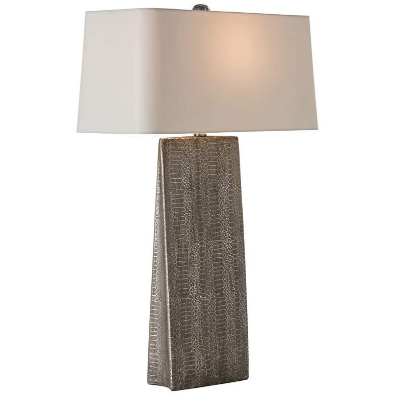 Arteriors Home Ravi Tapered Snakeskin Gray Table Lamp