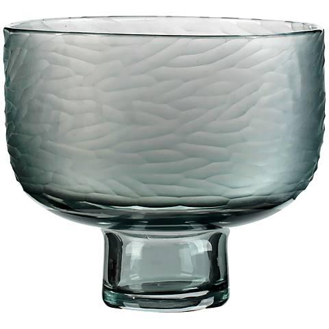 "Viz Jayden Gray 12"" Wide Art Glass Vase"