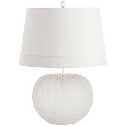 Clarissa Frosted Fizz Round Glass Accent Table Lamp
