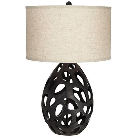 Luna Black Table Lamp