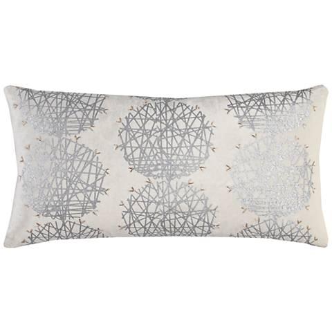 """Greta Gray Medallion 21"""" x 11"""" Printed Throw Pillow"""