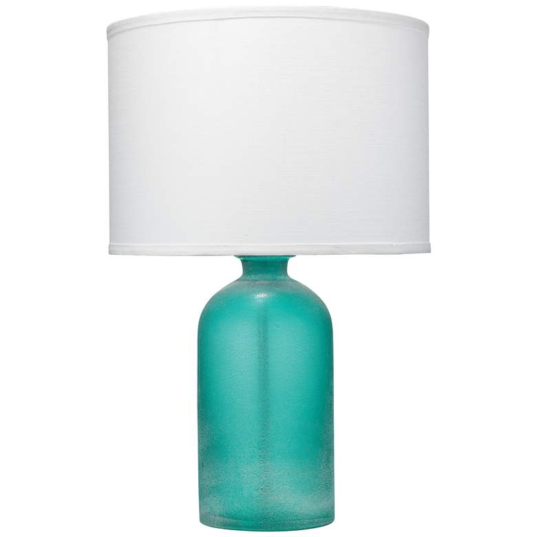 Jamie Young Surfside Tumbled Aqua Frost Glass Table Lamp