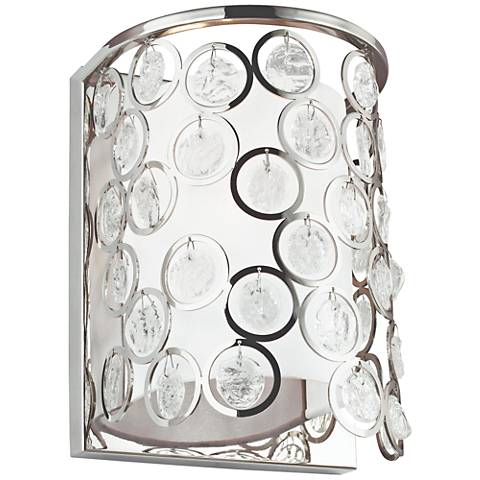 "Feiss Lexi 13"" High Polished Nickel Wall Sconce"