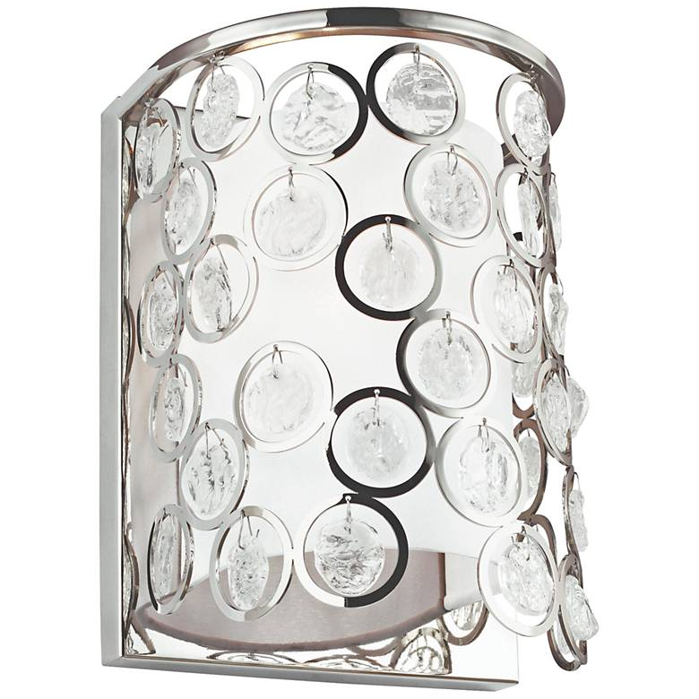 """Feiss Lexi 13"""" High Polished Nickel Wall Sconce"""