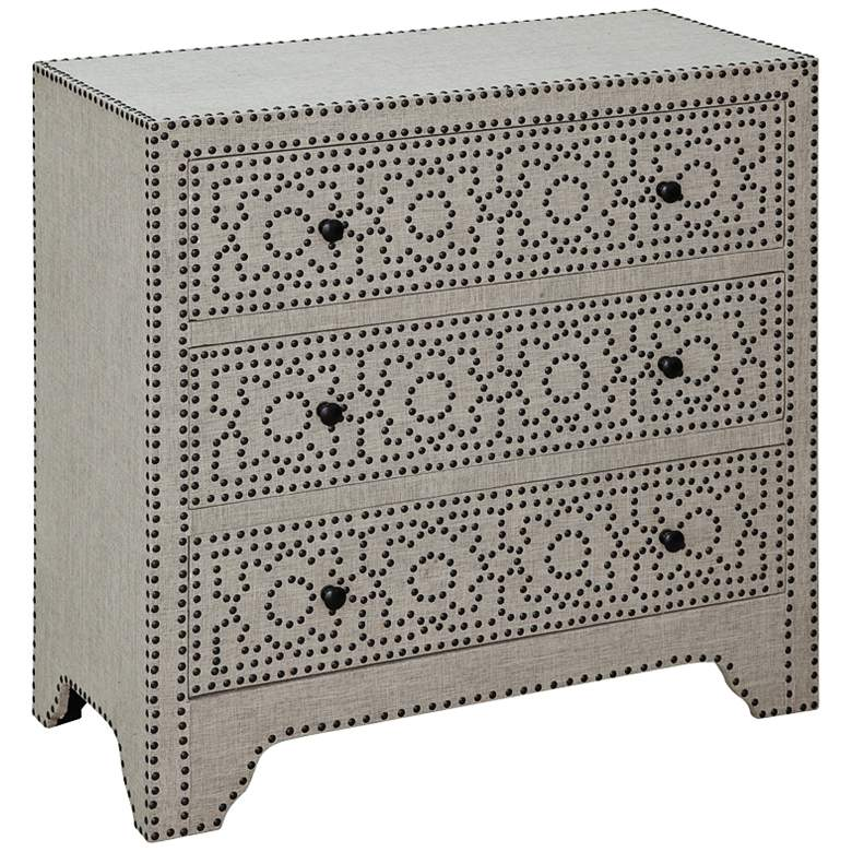 """Springfield 32"""" Wide 3-Drawer Nailhead and Linen Chest"""