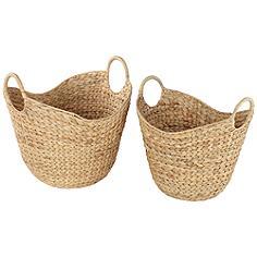Hyacinth Basket Set of 2