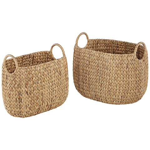 Hyacinth Open-Top 2-Piece Tote Basket Set