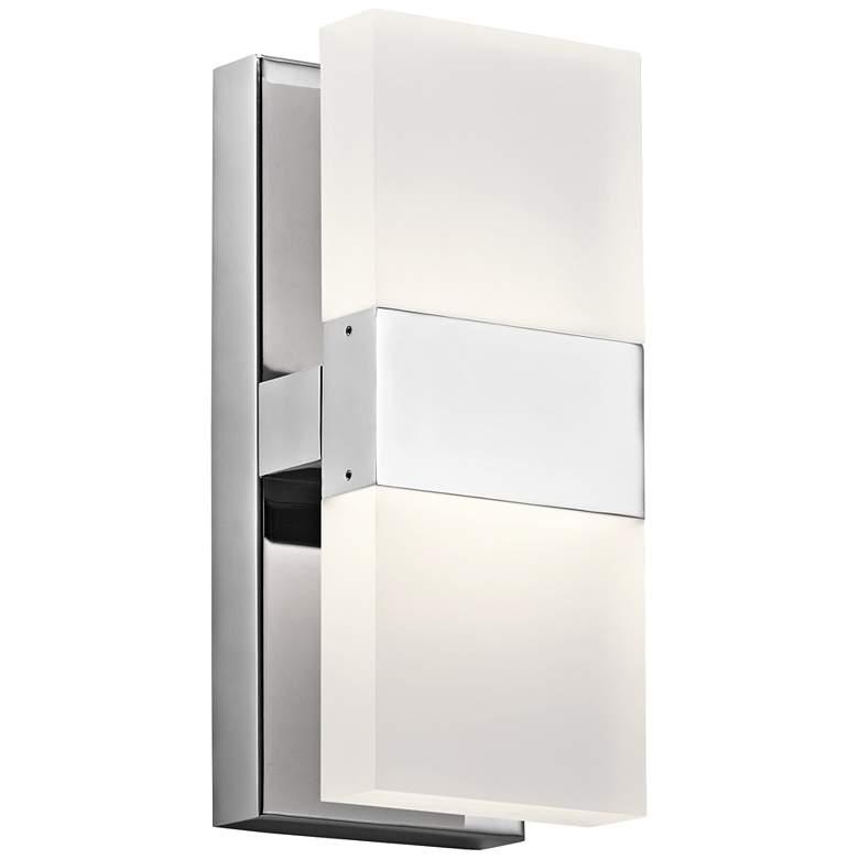 "Elan Haiden 11 1/4"" High Chrome LED Wall Sconce"