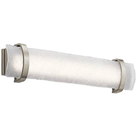 """Elan Adara 31"""" Wide Brushed Nickel LED Bath Light"""