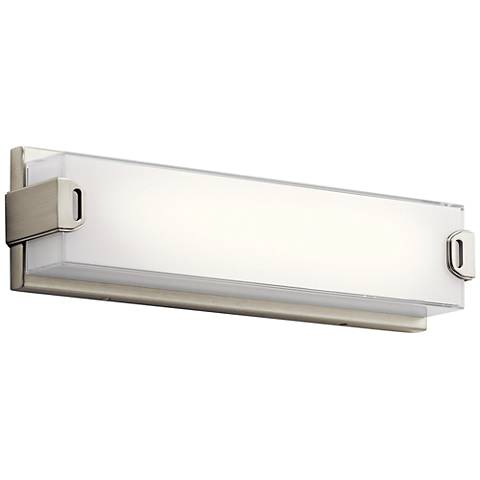 "Elan Xeo 18"" Wide Brushed Nickel LED Bath Light"