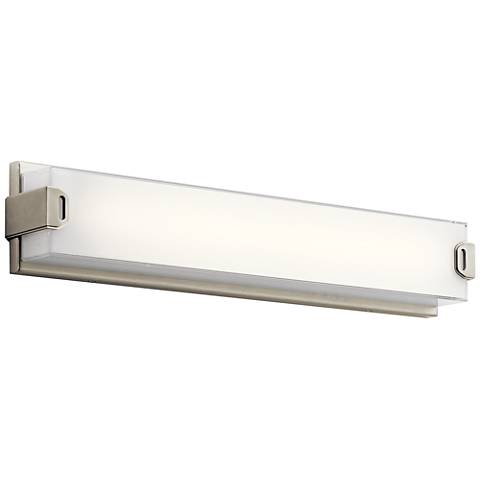 "Elan Xeo 24 1/4"" Wide Brushed Nickel LED Bath Light"