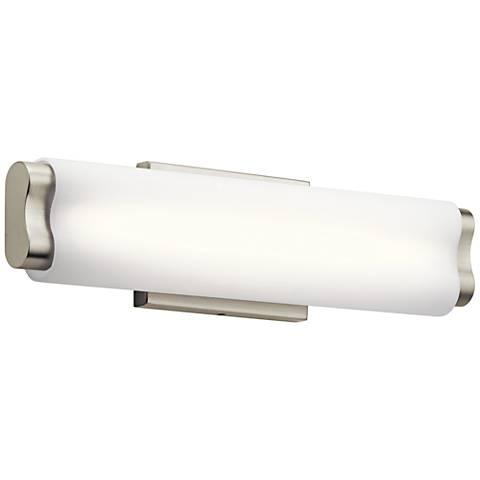 "Elan Kaz 18"" Wide Brushed Nickel LED Bath Light"