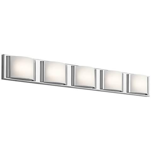 "Elan Bretto 37 1/4"" Wide Chrome LED Bath Light"