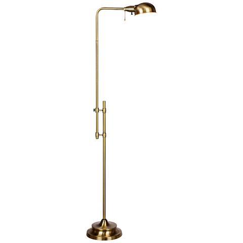 Vallejo Antique Brass Metal Adjustable Floor Lamp