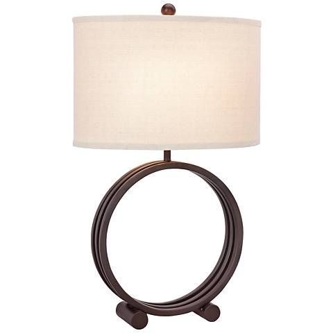 Ivy Oil Rubbed Bronze Metal Circle Table Lamp